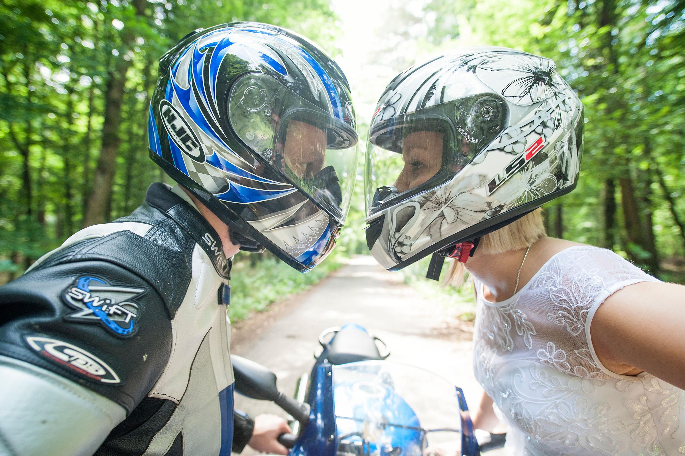 Ślub z motocyklowym motywem przewodnim | Brodnica